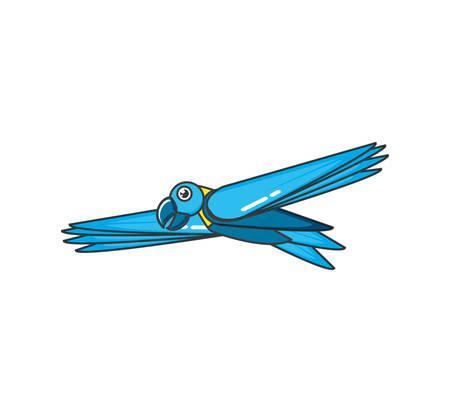 parrot bird animal flying isolated icon vector illustration design