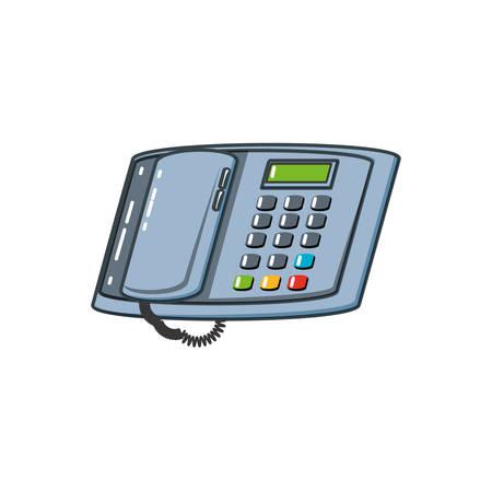 digital telephone office isolated icon vector illustration design