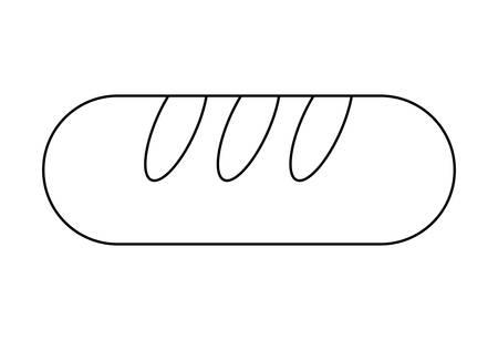 Délicieux pain français icône isolé conception d'illustration vectorielle