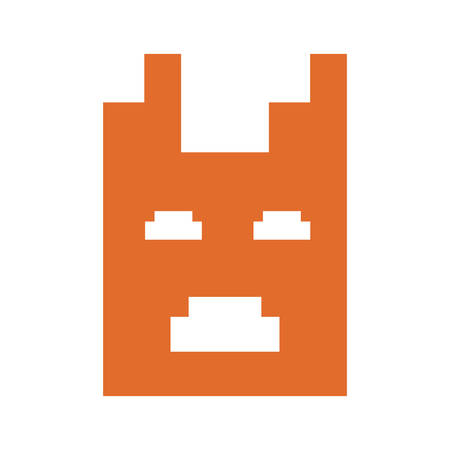 invaders character video game retro vector illustration Stock Illustratie