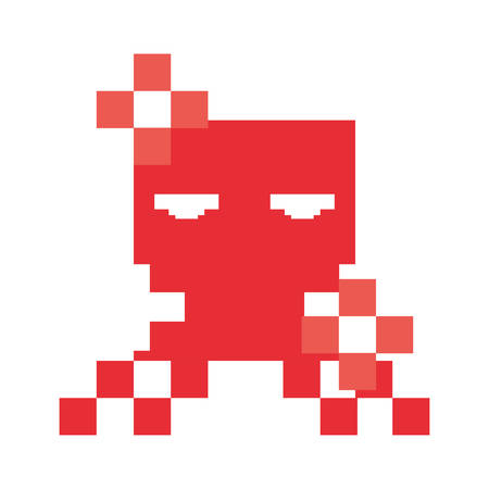 invaders character video game retro vector illustration