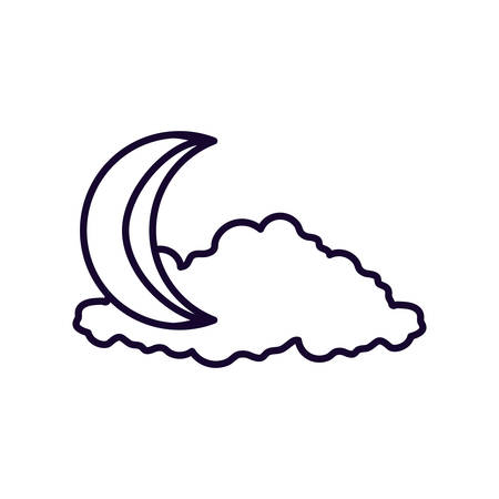 ramadan kareem card with moon vector illustration design