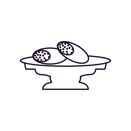 ramadan kareeem bread food vector illustration design
