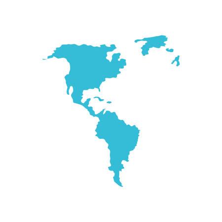 american continent maps silhouette vector illustration design Ilustrace
