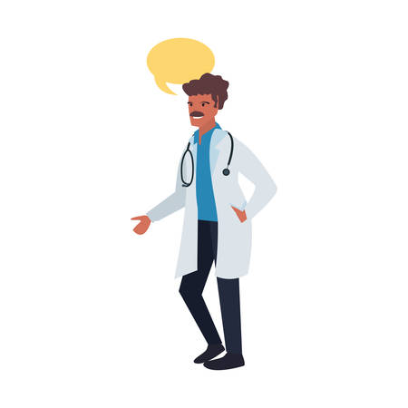 doctor speech bubble labour day vector illustration 向量圖像