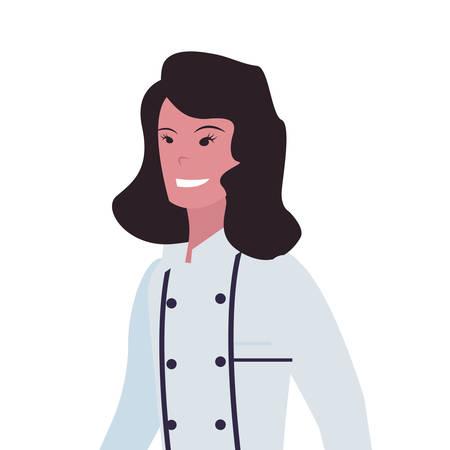 chef woman profession labour day vector illustration design