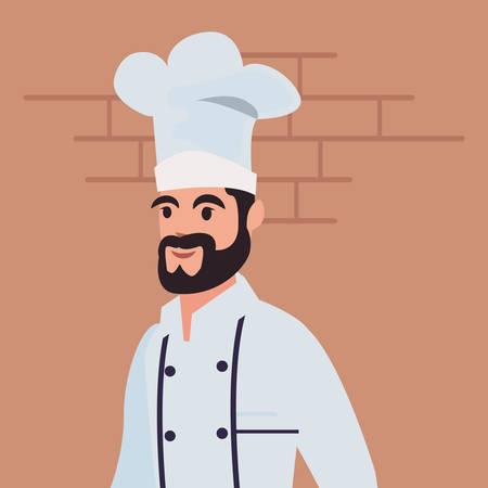 chef man profession labour day vector illustration design