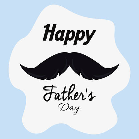 happy fathers day invitation card vector illustration