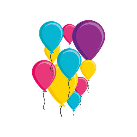balloons helium isolated icon vector illustration design Banque d'images - 123066437