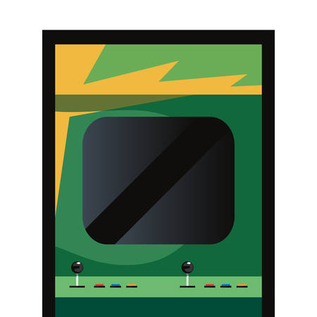 arcade machine video game retro vector illustration design Standard-Bild - 123066888