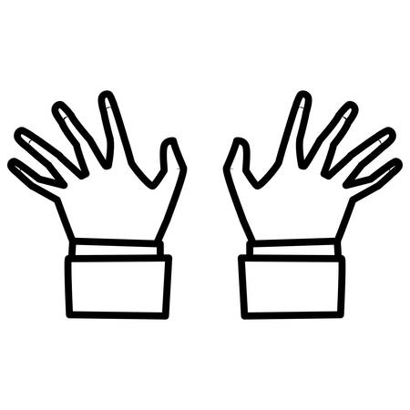 pianist hands isolated icon vector illustration design