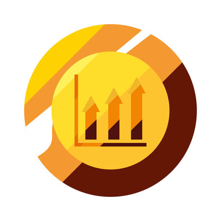 gold coin chart financial success vector illustration