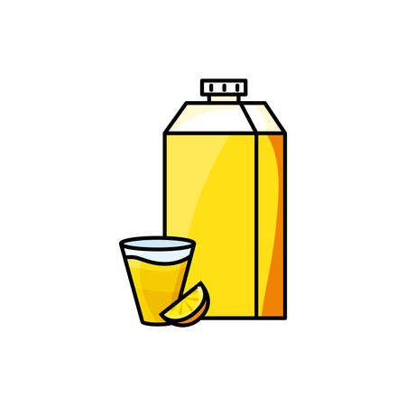 orange juice fruit icon vector illustration design Ilustrace
