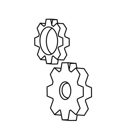 gears settings isolated icon vector illustration design