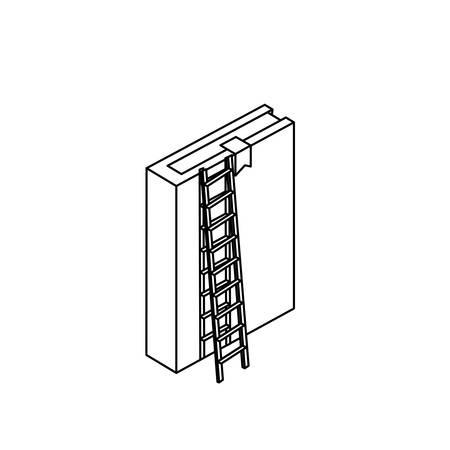 text book with stair vector illustration design Ilustração