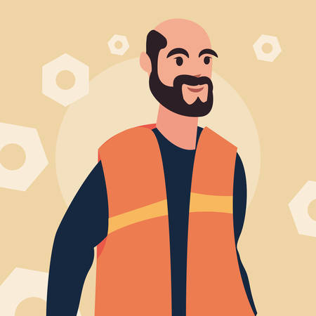 worker employee profession labour day vector illustration Иллюстрация