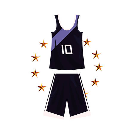 basketball uniform sport jersey shorts vector illustration