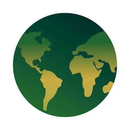 green world ecology nature happy earth day vector illustration