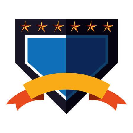 emblem badge empty template on white background vector illustration