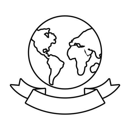 world happy earth day vector illustration design
