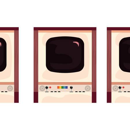 arcade machine video game retro collection vector illustration design Ilustração