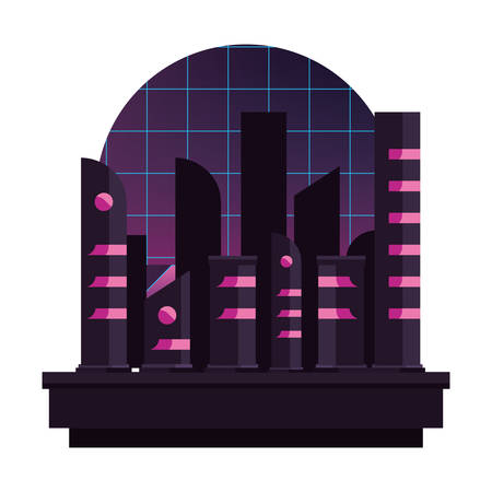 futuristic building abstract modern style vector illustration