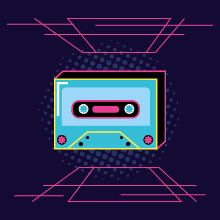 cassette tape of nineties icon vector illustration design