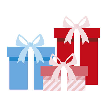 gifts boxes presents icon vector illustration design Stock Illustratie