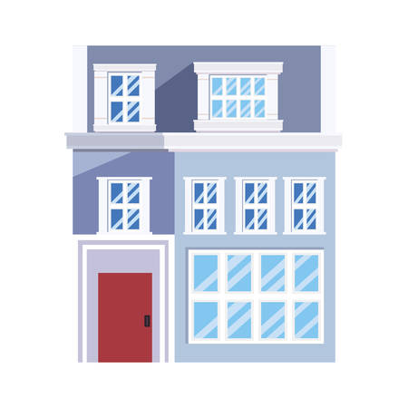 building urban structure on white background vector illustration Stock Illustratie