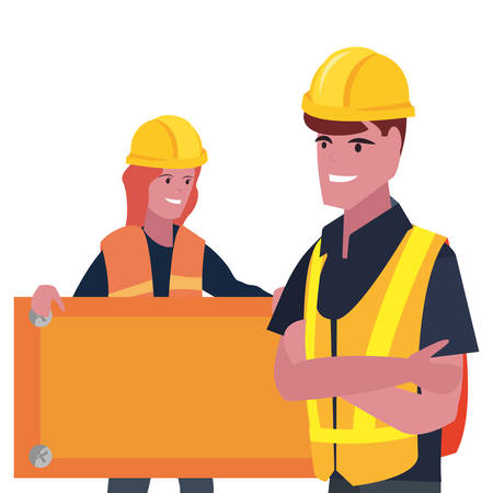 builders employee board labour day vector illustration