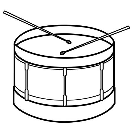 Trommelinstrument musikalische Ikone Vektor-Illustration Design Vektorgrafik