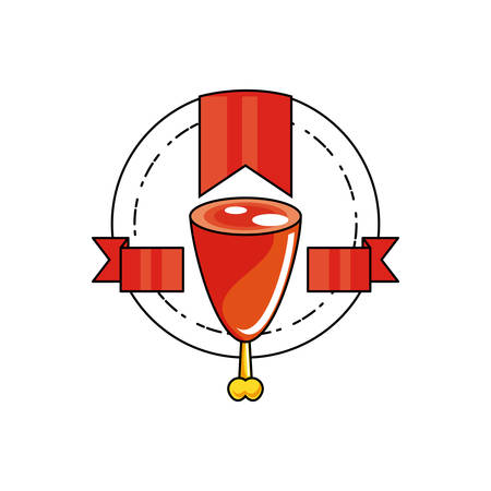 fresh pork leg isolated icon vector illustration design Illustration