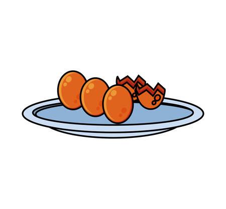 delicious eggs shells food icon vector illustration design