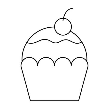delicious cupcake isolated icon vector illustration design 版權商用圖片 - 121582788