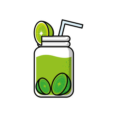 delicious and fresh lemonade vector illustration design