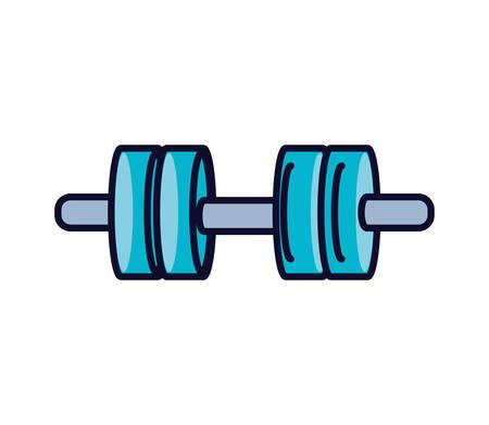 dumbbell sport isolated icon vector illustration design
