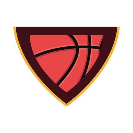 basketball sport ball badge background vector illustration
