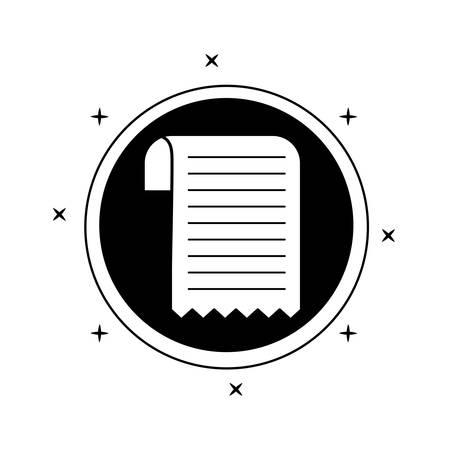 paper voucher in frame circular isolated icon vector illustration design Иллюстрация