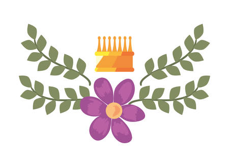 crown luxury flower on white background vector illustration