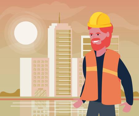 builder professional labour day vector illustration design