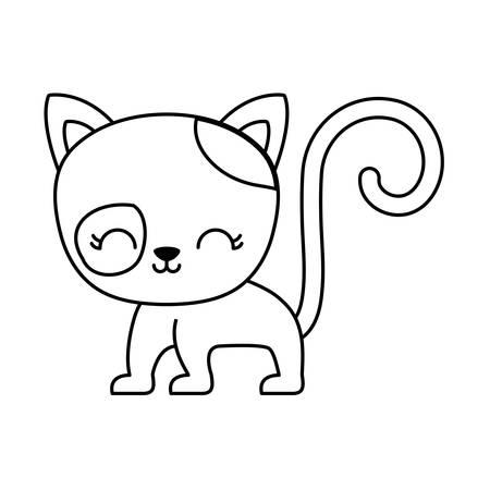 cute cat animal isolated icon vector illustration design Zdjęcie Seryjne - 122843902