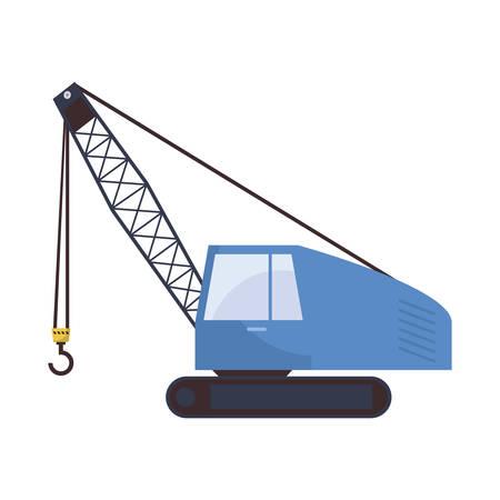 under construction crane truck icon vector illustration design