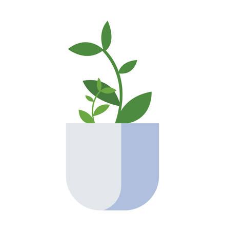 houseplant in pot icon vector illustration design Standard-Bild - 122846640