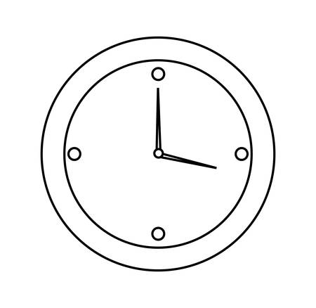 time clock isolated icon vector illustration design Stock Vector - 122846669