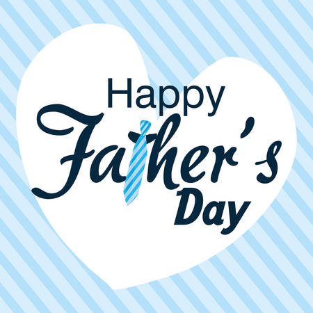 happy fathers day card love background vector illustration