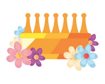 fleur de luxe couronne sur fond blanc vector illustration