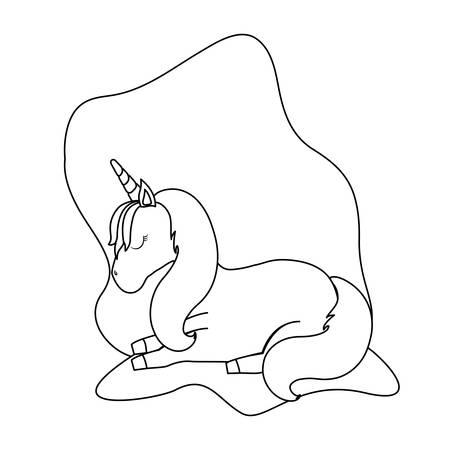 cute unicorn animal isolated icon vector illustration design Zdjęcie Seryjne - 122814596