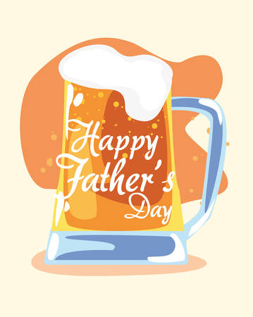 cold beer celebration happy fathers day vector illustration Фото со стока - 122815856