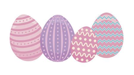 decorated eggs of easter vector illustration design Stock Illustratie