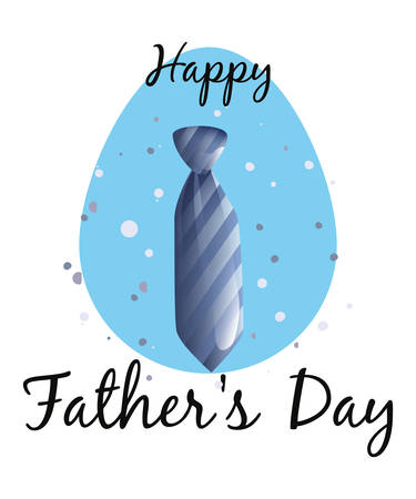 necktie card happy fathers day vector illustration